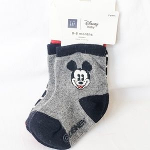 Disney Baby Mickey Mouse 0-6 months Socks *NWT*